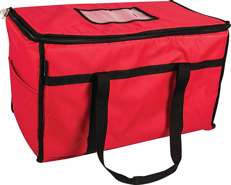 "San Jamar - 22"" X 12"" X 12"" RED FOOD CARRIER"