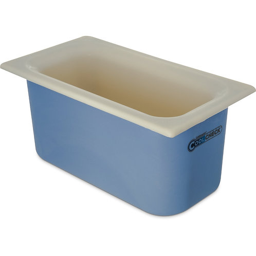 "Carlisle- Coldmaster® Coolcheck™ Food Pan, 1/3 size, 4 qt. capacity, 6"" deep"