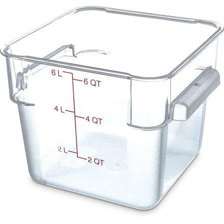 Carlisle - StorPlus™ Polycarbonate Square Food Storage Container 6 qt - Clear