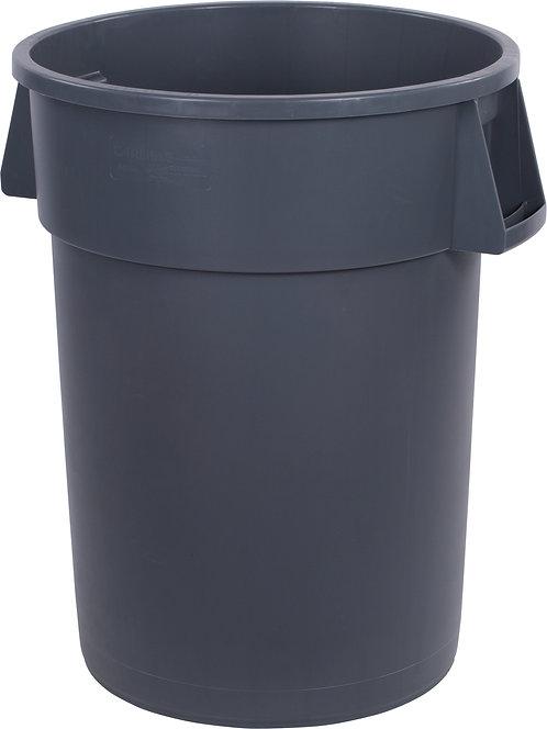 Carlisle - Bronco™ Round Waste Bin Trash Container 44 Gallon - Gray