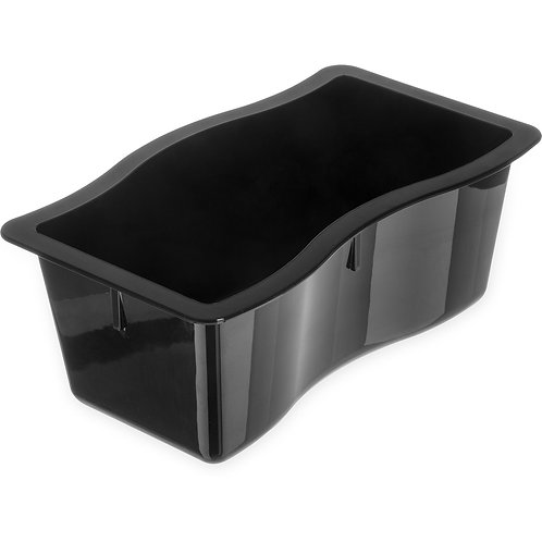 "Carlisle- Modular Displayware Pan, 1/2 size, 5.5 qt. capacity, 4"" deep"