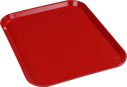 "Carlisle- Glasteel™ Solid Rectangular Tray 16.4"" x 12"" - Red"