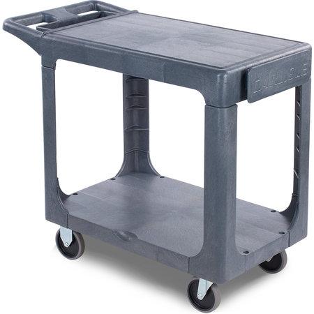 "Carlisle - 2 Shelf Utility Cart 40"" x 19"" - Gray"