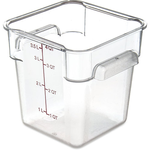 "Carlisle- StorPlus™ Food Storage Container, 4 qt., 7-1/8"" x 7-5/16""H"
