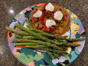 Mexican Flatbread Pizza & Asparagus.jpeg