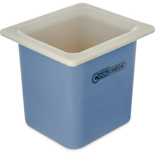 "Carlisle- Coldmaster® Coolcheck™  Food Pan, 1/6 size, 1.7 qt. capacity, 6"" deep"