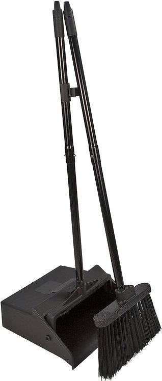 "Carlisle - Duo-Pan™ Upright Dust Pan & Broom 36"" - Black"