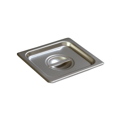 Carlisle-DuraPan™ Sixth-Size Stainless Steel Steam Table Hotel Pan Handled Cover