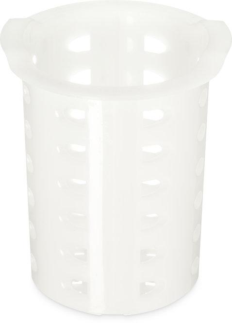 "Carlisle - Perma-Sil™ Flatware Storage Cylinder 5"" x 3.69"" - White"