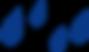 Blue droplets