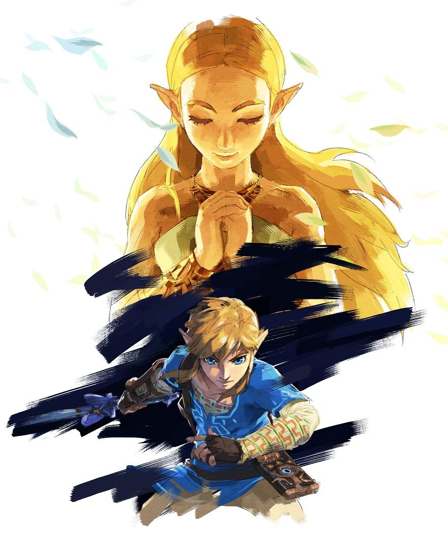 BotW Link and Zelda