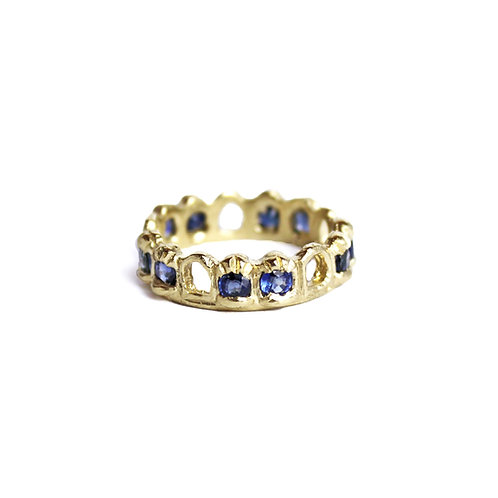 Blue Sapphire Archway Band