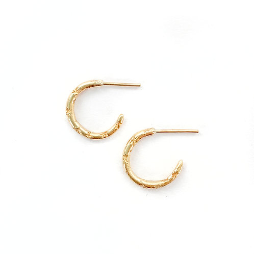 Small Starry Hoops
