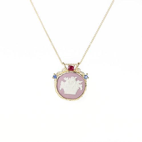 Purple Garland Necklace