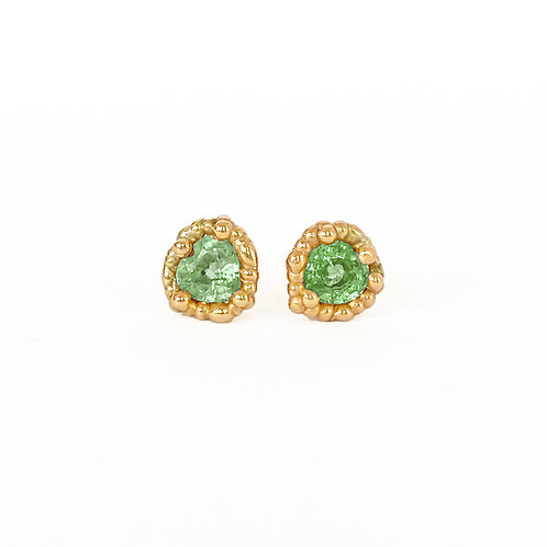 Green Sweetheart Studs
