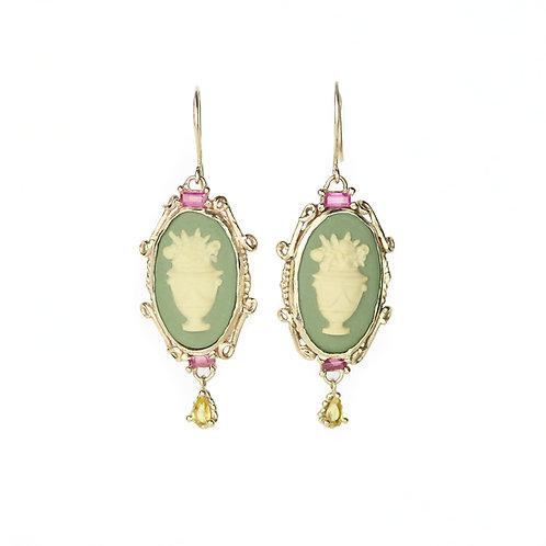 Green Garland Earrings
