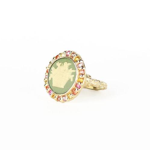 Green Garland Ring