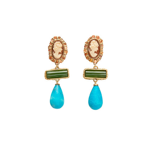 Coralie Halo Drop Earrings