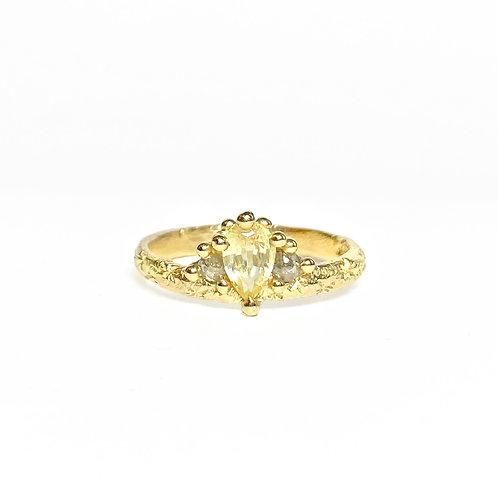 Yellow & Grey Mega Crown Ring
