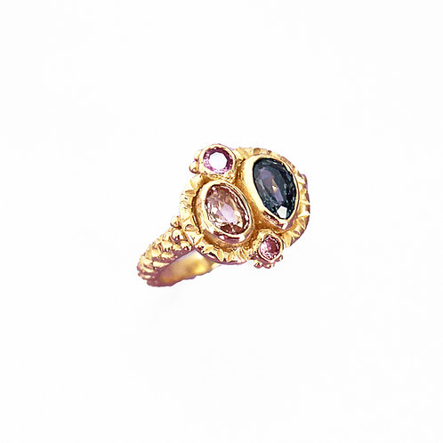 Pink & Purple Queenie Ring