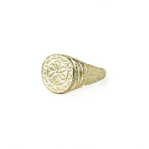 Flora Signet Ring