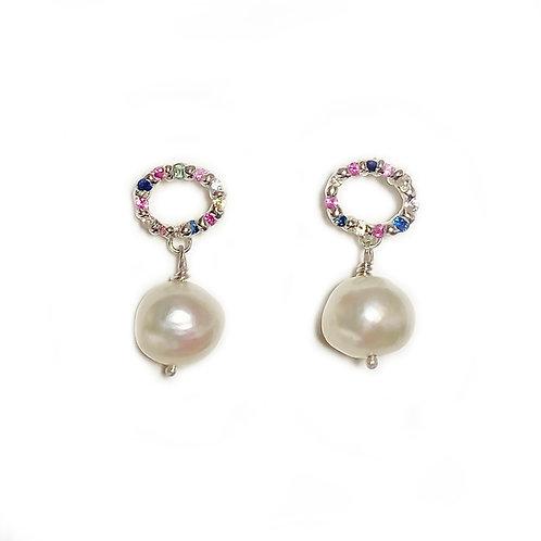 Confetti Pearl Earrings