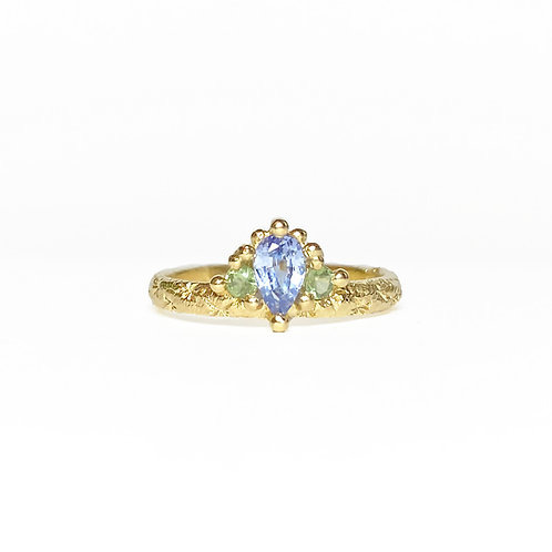 Blue & Green Mega Crown Ring