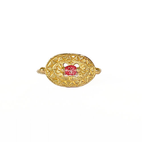 Ruby Shield Signet Ring