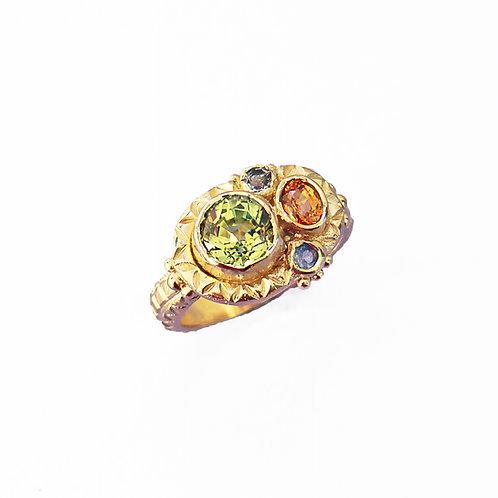 Orange, Green & Purple Queenie Ring