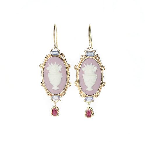 Purple Garland Earrings