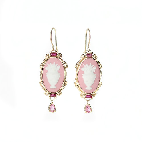 Pink Garland Earrings