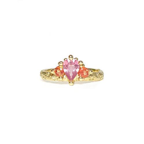 Pink & Orange Mega Crown Ring