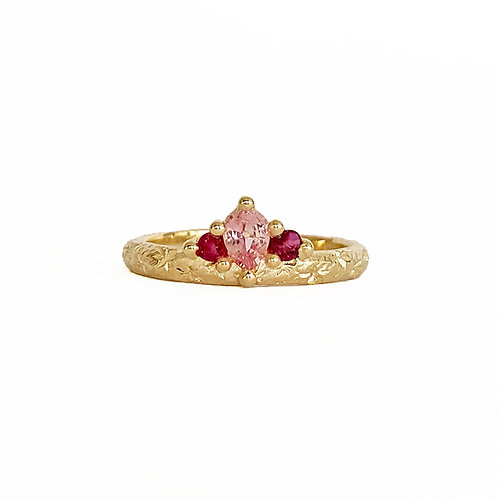Pink & Red Crown Ring