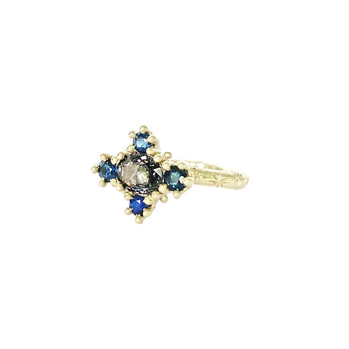 Spinel & Sapphire Croix Ring