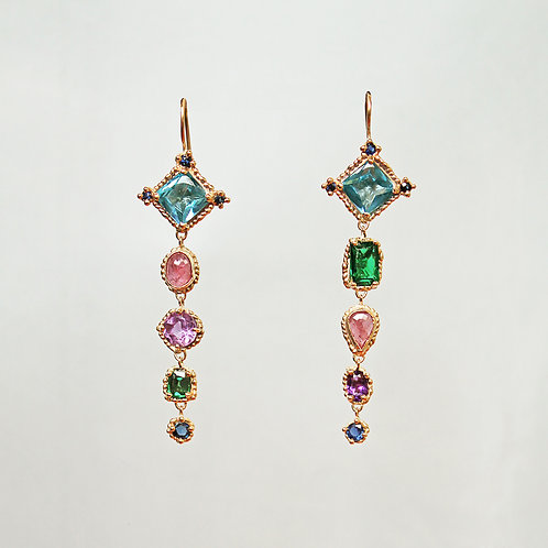 Mega Croix Multi Drop Earrings