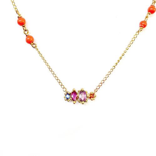 Pink Harlequin Sapphire Pendant