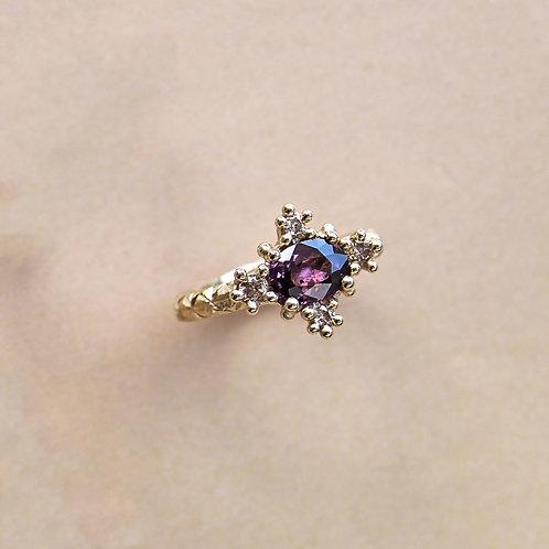 Purple Sapphire Croix Ring