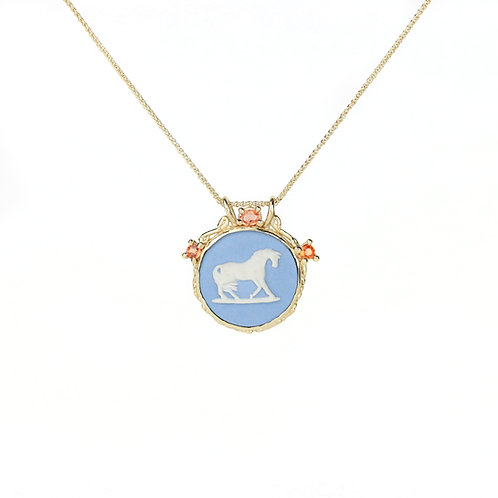 Pony Cameo Necklace