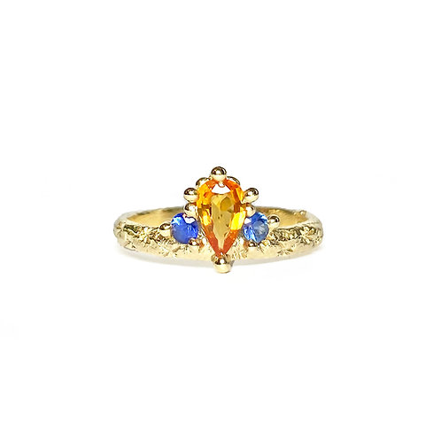 Orange & Blue Mega Crown Ring