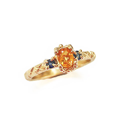 Orange & Blue Trio Ring