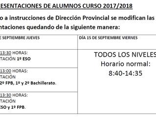 Presentaciones de alumnos 2017/2018
