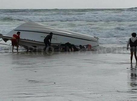 Guatemalteco ahogado en Rosarito al volcarse lancha con ilegales