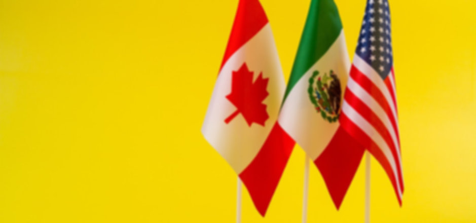 flags of Mexico, Canada y USA