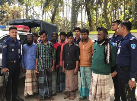 Three members of an international human trafficking gang arrested in Bangladesh.