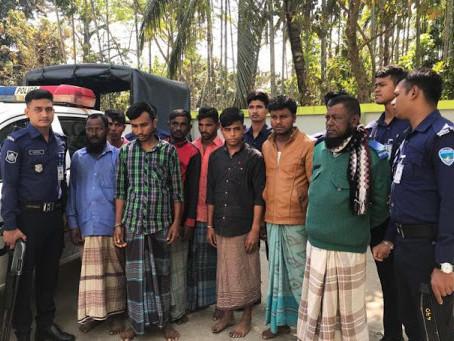 Three members of an international human trafficking gang arrested in Bangladesh.