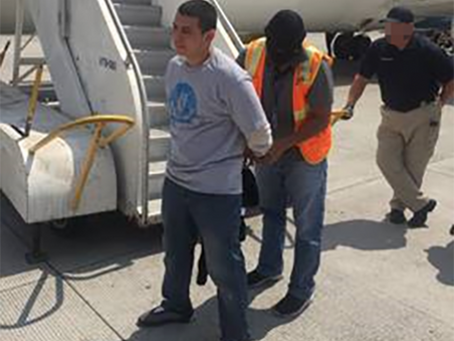 ICE deport a Salvadoran MS-13 gang member wanted on an Interpol warrant for aggravated extortion