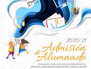 ADMISIÓN CURSO 2020/2021  ESO Y BACHILLERATO: