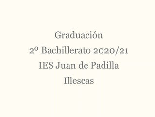 Acto de graduación 2º Bachillerarto