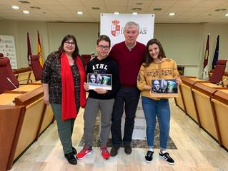 Antonio Rubio Gómez y Naiara Ruiz Guzmán recibidos en el ayuntamiento de Illescas