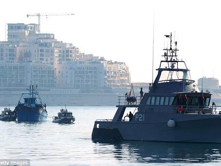 Armada Maltesa intercepta yate de Coyotes ucranianos con 35 ilegales